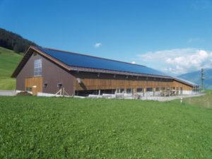 PV-Anlage auf Stall Anderhalden in Stalden OW